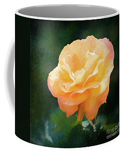 Good As Gold Painted Rose Coffee Mug