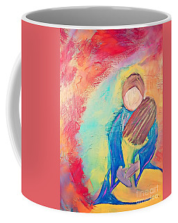 Coffee Mug featuring the painting Loved by Jessica Eli