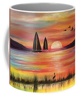 Coffee Mug featuring the painting Good Eveving by Denise Tomasura