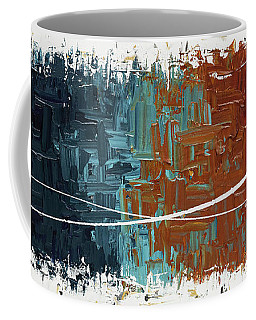 Coffee Mug featuring the painting Good Feeling - Abstract Art by Carmen Guedez