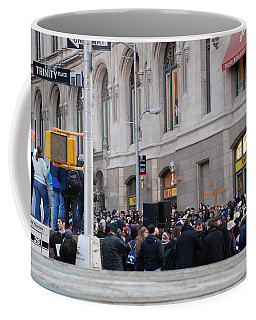 Coffee Mug featuring the photograph Good Friday On Trinity Place by Rob Hans