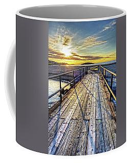 Good Harbor Beach Footbridge Shadows Coffee Mug