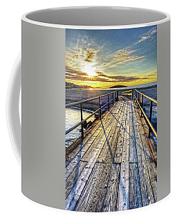 Good Harbor Beach Footbridge Shadows Coffee Mug