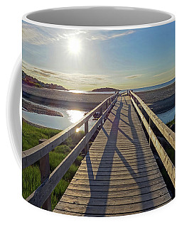 Good Harbor Beach Footbridge Sunny Shadow Coffee Mug
