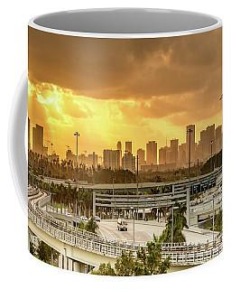 Miami City Sunrise Coffee Mug