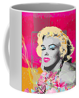 Coffee Mug featuring the digital art Goodbye Norma Jean  by Eleni Mac Synodinos