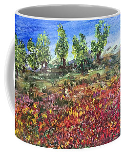 Coffee Mug featuring the painting Goodbye Winter by Norma Duch