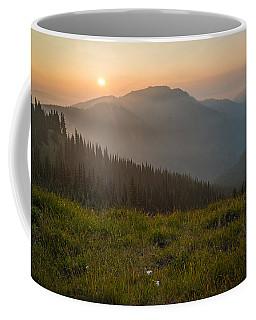 Goodnight Mountains Coffee Mug by Kristopher Schoenleber