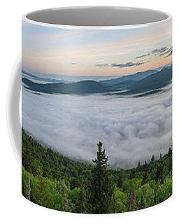 Coffee Mug featuring the photograph Goodnow Mountain Panorama by Brad Wenskoski