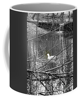 Coffee Mug featuring the photograph Goose In Virtual Black And White by Marie Neder