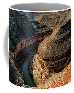 Goosenecks State Park Overlook Coffee Mug by Gary Warnimont