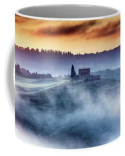 Gorgeous Tuscany Landcape At Sunrise Coffee Mug