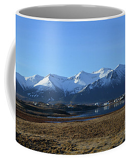 Gorgeous View Of A Town Clustered At The Base Of Rhyolite Mounta Coffee Mug by DejaVu Designs