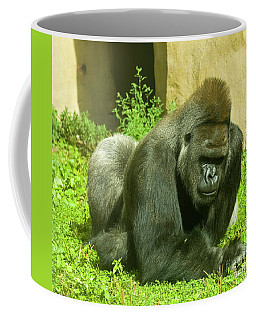 Gorilla Coffee Mug by Irina Afonskaya