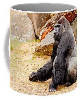 Coffee Mug featuring the photograph Gorilla Sitting Upright by Nick  Biemans