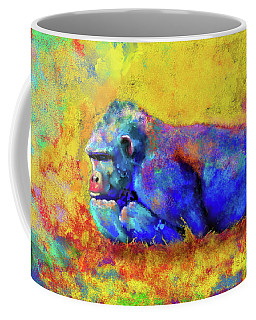 Coffee Mug featuring the photograph Gorilla by Test
