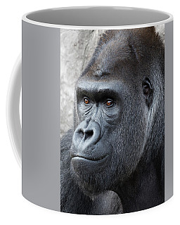 Coffee Mug featuring the photograph Gorillas In The Mist by Robert Bellomy