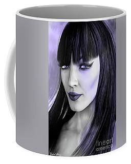 Goth Portrait Purple Coffee Mug