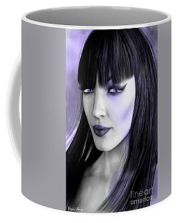 Goth Portrait Purple Coffee Mug