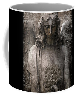 Gothic Surreal Mourning Angel - Inspirational Angel Art - Believe  Coffee Mug by Kathy Fornal