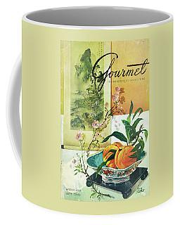 Gourmet Cover Featuring A Bowl Of Peaches Coffee Mug
