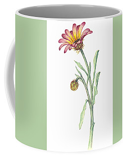 Coffee Mug featuring the painting Gousblom by Heidi Kriel