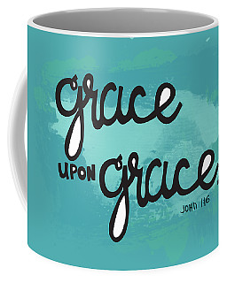 Coffee Mug featuring the mixed media Grace by Nancy Ingersoll