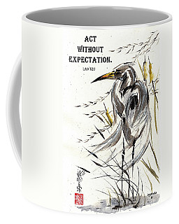 Grace Of Solitude With Lao Tzu Quote II Coffee Mug by Bill Searle
