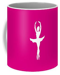 Graceful Silhouette Of Dancing Ballerina Coffee Mug