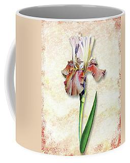 Coffee Mug featuring the painting Graceful Watercolor Iris by Irina Sztukowski
