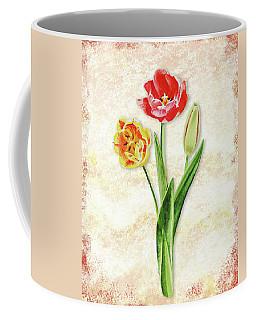 Coffee Mug featuring the painting Graceful Watercolor Tulips by Irina Sztukowski