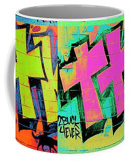 Graffiti And Black Cat Coffee Mug