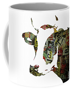 Graffiti Cow Abstract Modern Painting Pop Art Prints Poster  Robert Erod  Coffee Mug