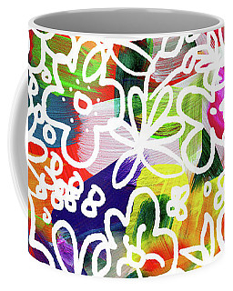 Coffee Mug featuring the mixed media Graffiti Garden 2- Art By Linda Woods by Linda Woods