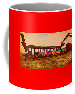 Coffee Mug featuring the photograph Graffiti Laden Rusted Out Saltair Train Car Scrapped February 18 2012 by Richard W Linford