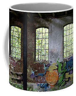 Graffiti On The Walls Of An Old Factory  Coffee Mug