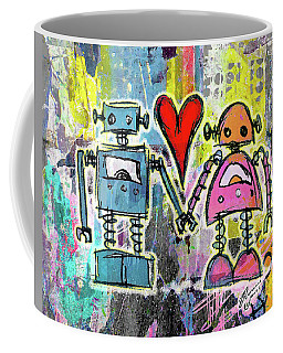 Graffiti Pop Robot Love Coffee Mug