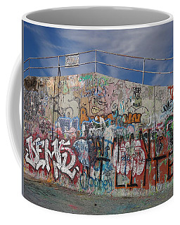 Coffee Mug featuring the photograph Graffiti Wall by Julia Wilcox