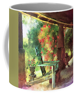 Coffee Mug featuring the digital art Gramma's Front Porch by Lois Bryan