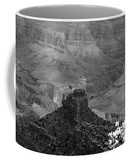 Coffee Mug featuring the photograph Grand Canyon 4 In Black And White by Debby Pueschel