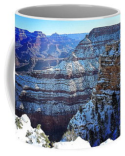 Grand Canyon National Park In Winter Coffee Mug