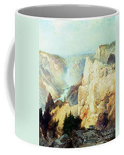 Grand Canyon Of The Yellowstone Park Coffee Mug