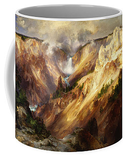 Coffee Mug featuring the painting Grand Canyon Of The Yellowstone by Thomas Moran