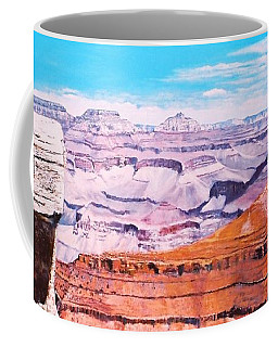 Coffee Mug featuring the painting Grand Canyon Scene by M Diane Bonaparte