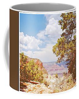Grand Canyon View With Pine Tree Coffee Mug by A Gurmankin