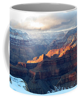 Grand Canyon With Snow Coffee Mug by Laurel Powell