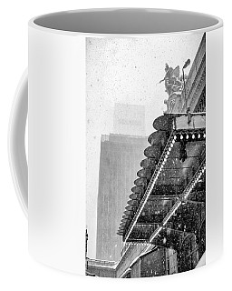 Coffee Mug featuring the photograph Grand Central Snow Day by Dave Beckerman