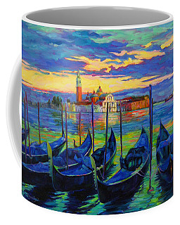 Coffee Mug featuring the painting Grand Finale In Venice by Chris Brandley