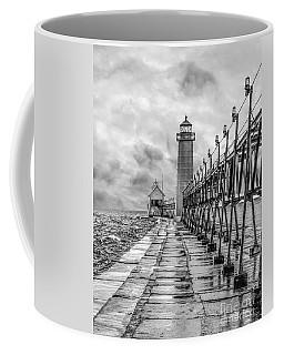 Grand Haven Lighthouse - Monochome Coffee Mug