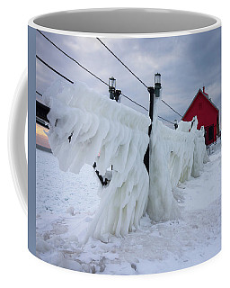 Grand Haven Lighthouse With Ice Coffee Mug